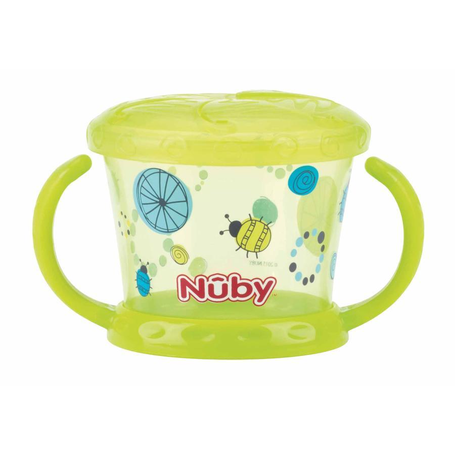 Vaso de merienda Nûby con protección para la coctelera Color a partir de los 12 meses en color verde