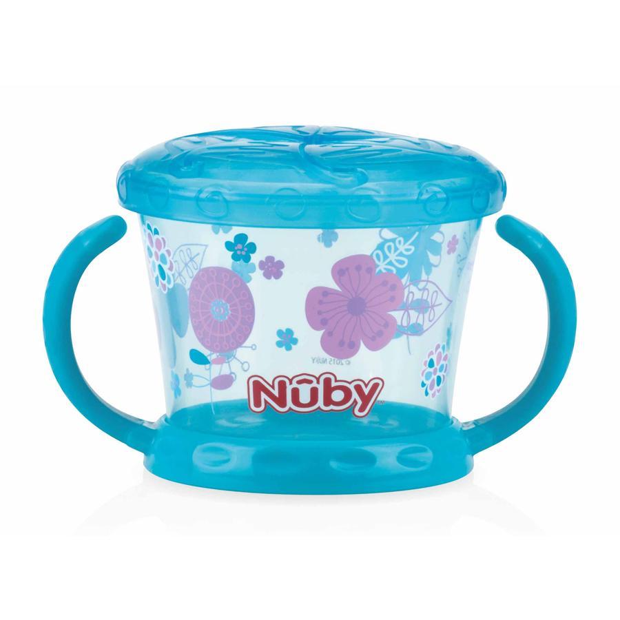 Nûby Snack-Becher mit Schüttelschutz Color ab dem 12. Monat in aqua