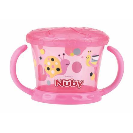 Vaso de merienda Nûby con protección para la coctelera Color a partir de los 12 meses en color rosa