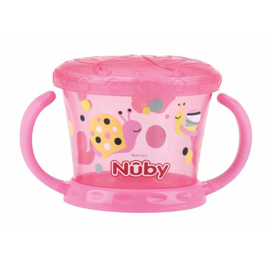 Tazza da merenda Nûby con protezione shaker Color da 12 mesi in rosa
