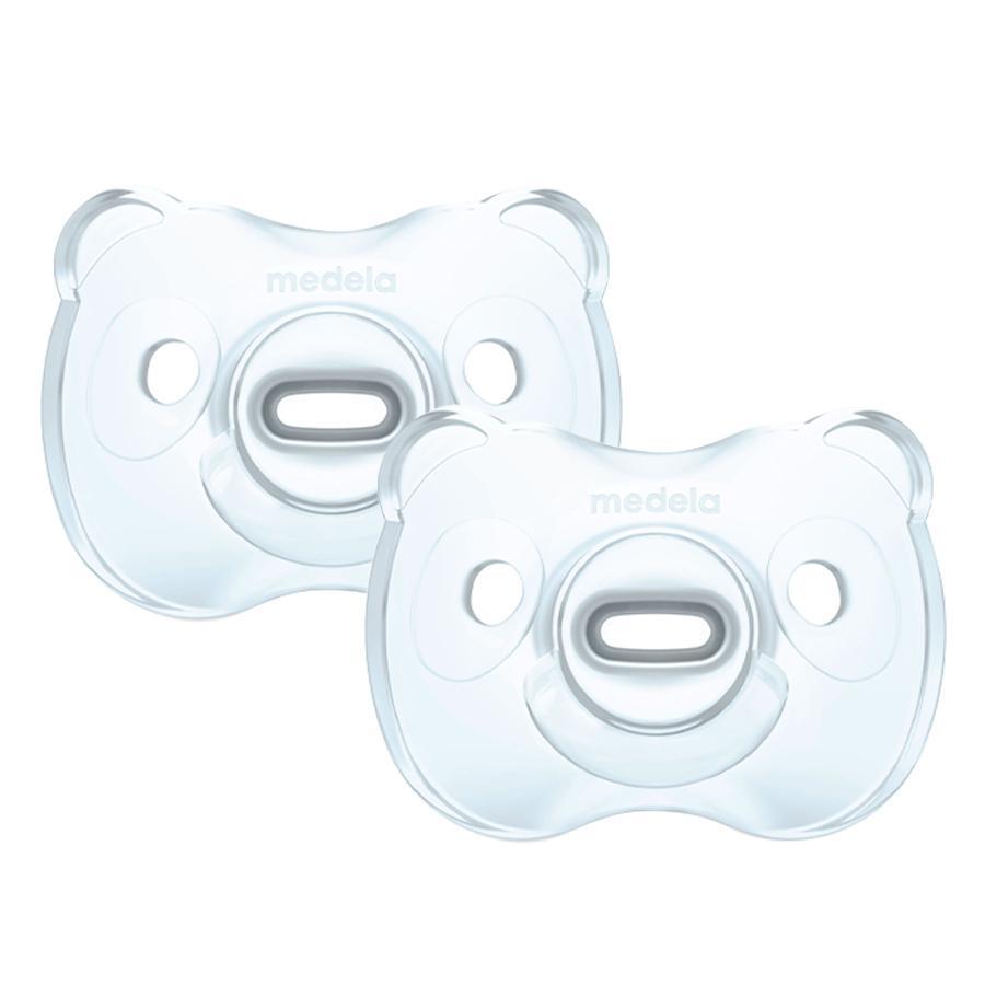 Medela Baby Schnuller Soft Silicone 0-6 UNO in hellblau, 2 Stück