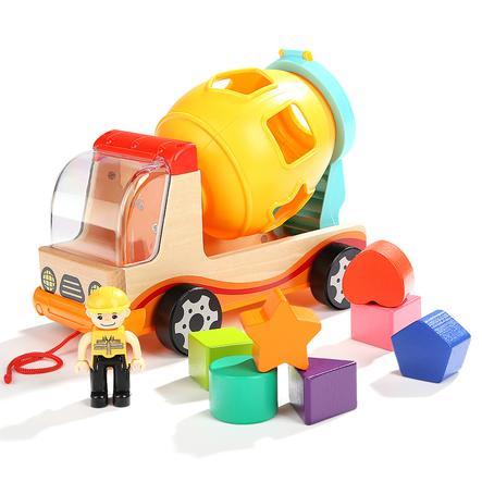 TopBright Toys® Baufahrzeug mit Formenlernspiel