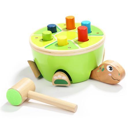 Top B høyre Toys® Wood tapping leketøy - S barn padde