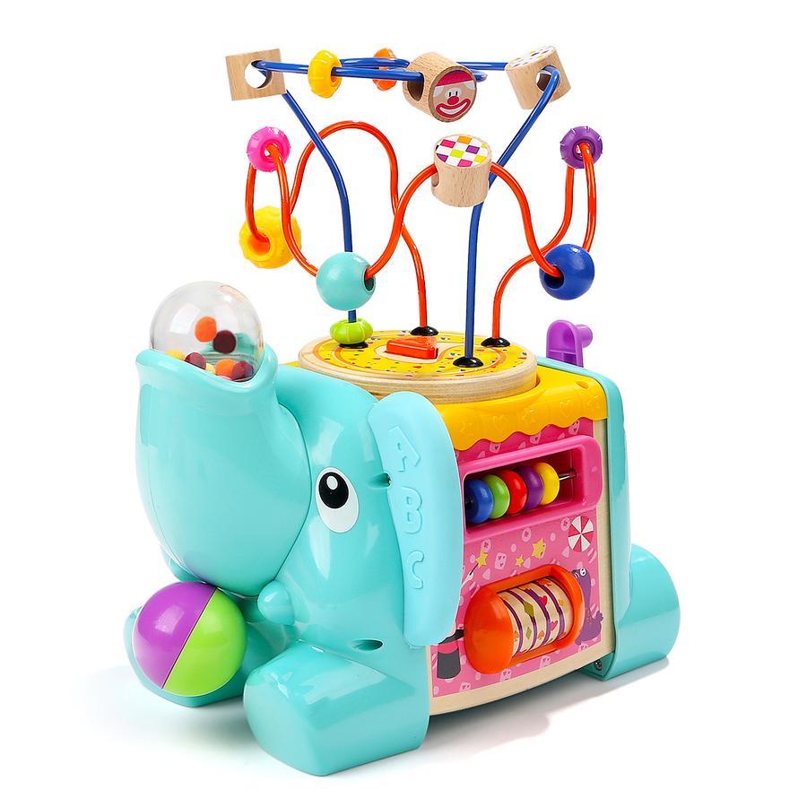 TopBright Toys® 5 in 1 Motorikwürfel Elefant