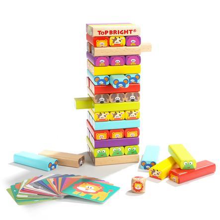TopBright Toys® Stapelturm Lustige Tierfreunde
