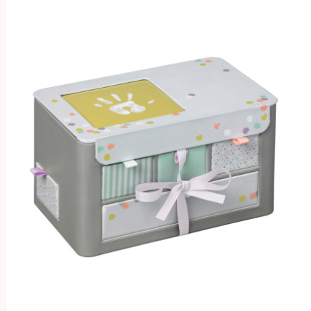 Baby Art úložný box- truhla na poklady, šedá