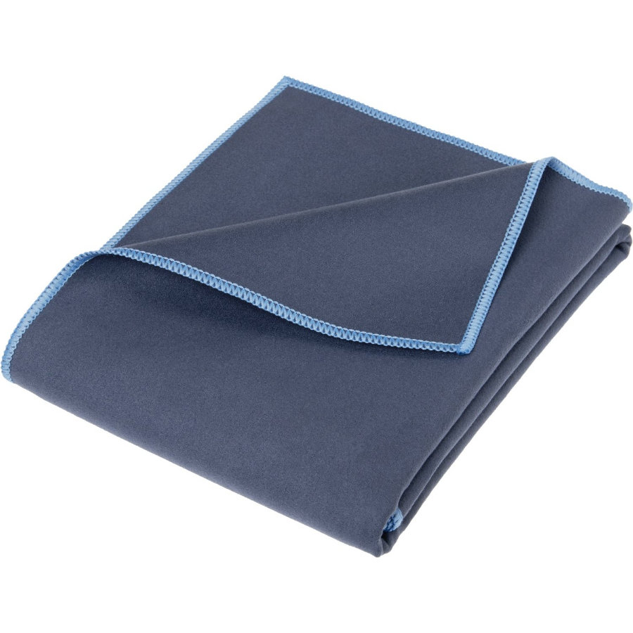 Playshoes Plaid enfant multifonction bleu marine 90x200 cm