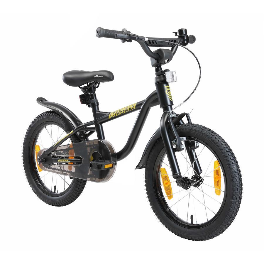 LÖWENRAD Kinder Fahrrad   16 Zoll Räder   Schwarz