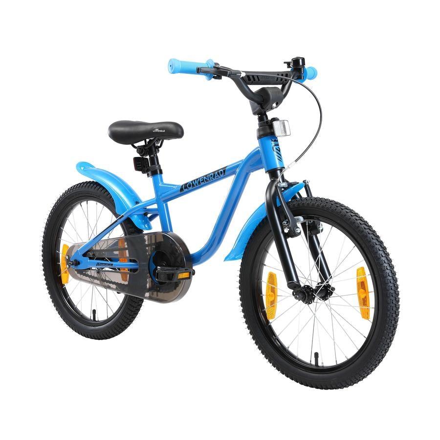 LÖWENRAD Kinder Fahrrad | 18 Zoll Räder | Blau