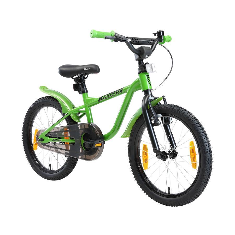 LÖWENRAD Kinder Fahrrad   18 Zoll Rad   Grün