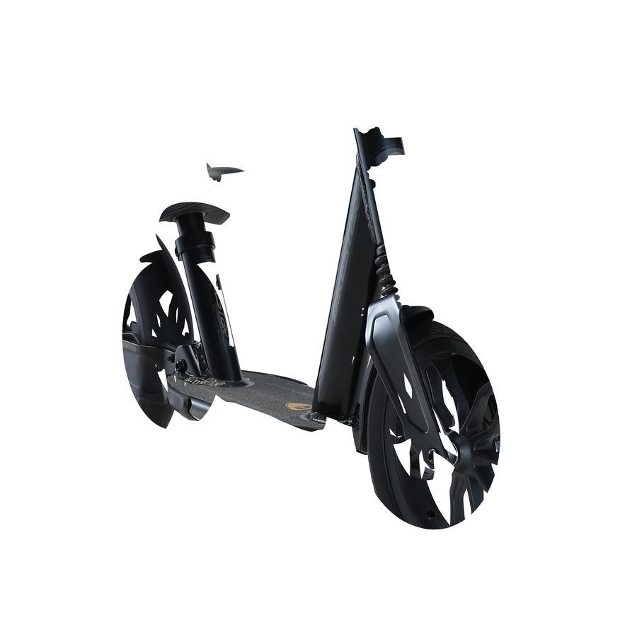 Dětská hliníková kola BIKESTAR s plným odpružením   10palcová kola   černá