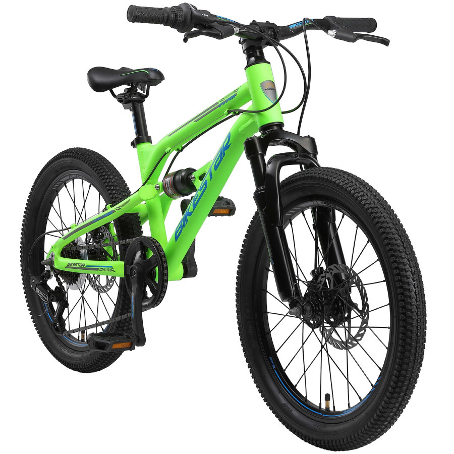 BIKESTAR Alu Kinder Jugend Mountainbike   20 Zoll Räder   Grün