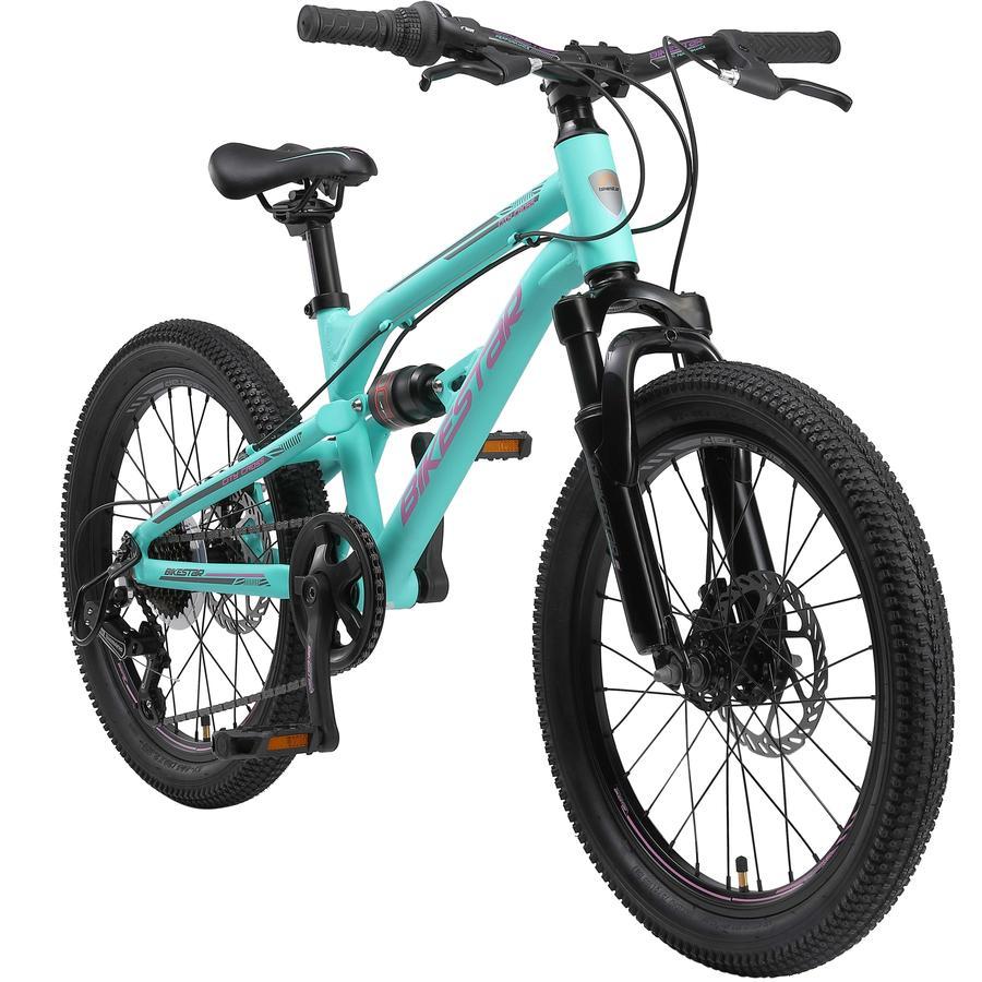 BIKESTAR Alu Kinder Jugend Mountainbike   20 Zoll Räder   Türkis