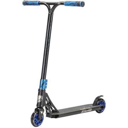 STAR-SCOOTER® Freestyle Aluminium Jump Stunt Scooter   110mm Räder   Schwarz Blau