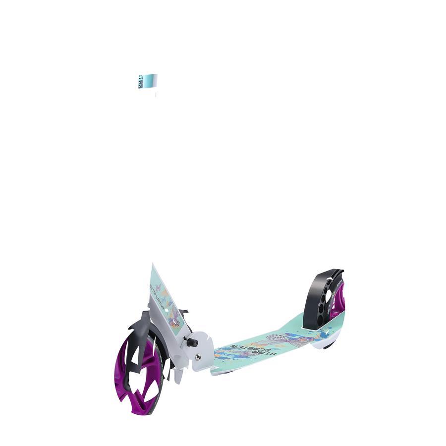 bikestar STAR-SCOOTER® Aluminium City Tretroller, weiß/türkis