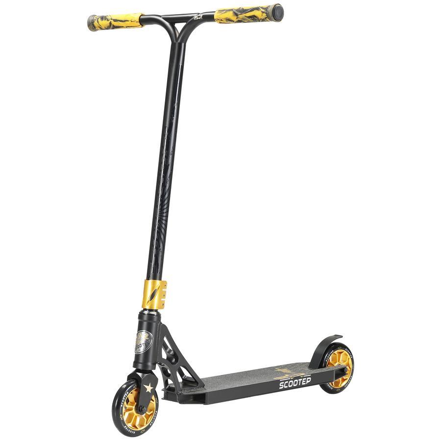 STAR-SCOOTER® Trottinette enfant 2 roues Freestyle aluminium Jump Stunt 120 mm noir doré
