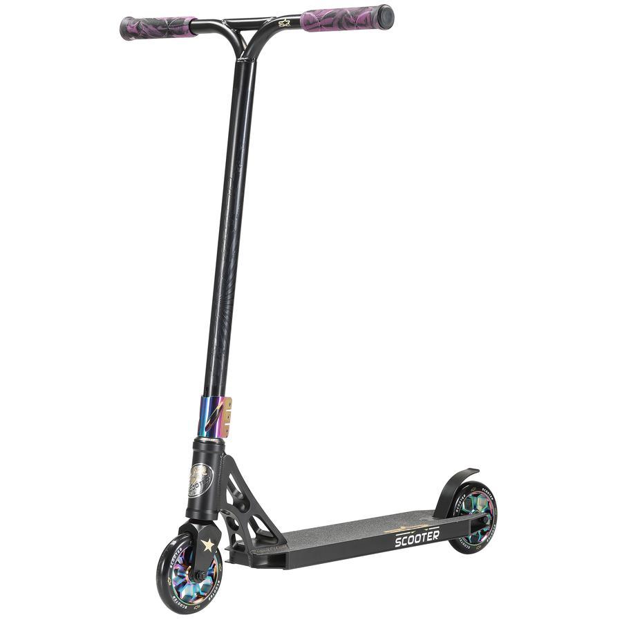 STAR-SCOOTER® Freestyle Aluminium Jump Stunt Scooter   120mm Räder   Schwarz Chrom