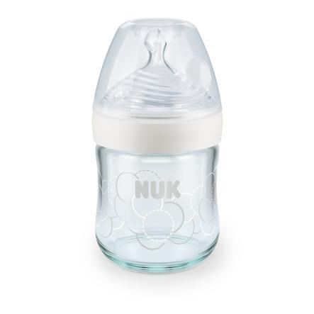 NUK Butelka dla niemowląt Nature Sense 120 ml, w kolorze białym