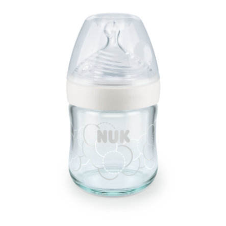 NUK Vauvapullo Nature Sense 120 ml, valkoinen