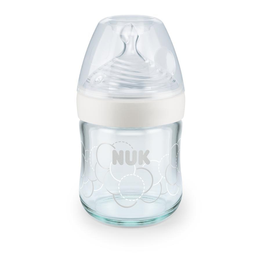 NUK Dětská láhev Nature Sense 120 ml, bílá barva