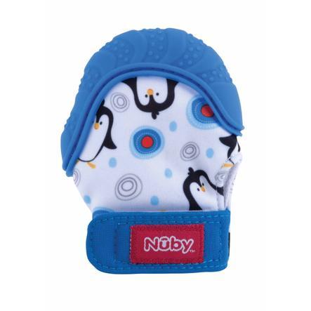 Nûby kousací rukavice Happy Hands v modré barvě