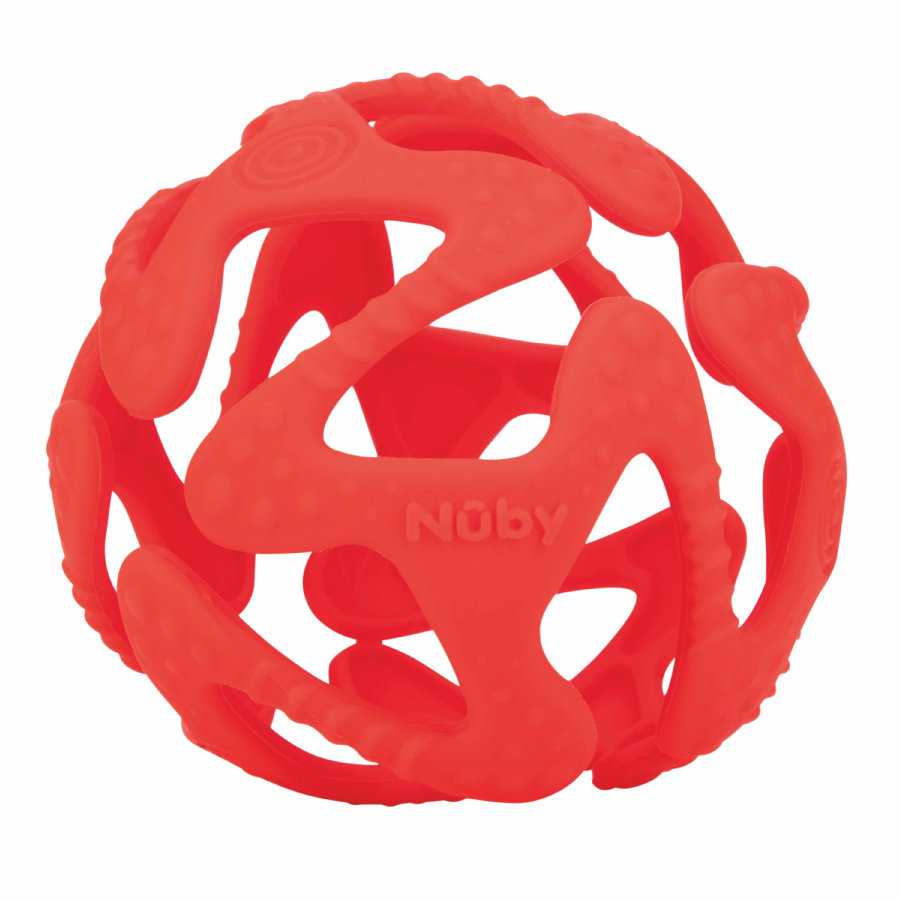 Nûby Beißball aus Silikon in rot