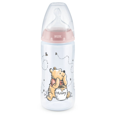 NUK Babyflasche First Choice+ Disney Winnie The Pooh 300 ml, in rosa