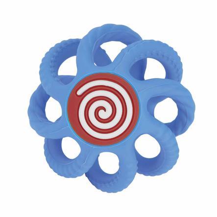 Nûby Beißball aus Silikon klein in blau