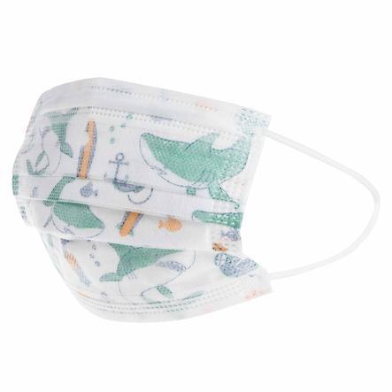 Nûby Einweg Alltagsmaske im 10er Pack, Mund-Nasen-Schutz für Kinder 4-12 Jahre, 3-lagig für Jungs
