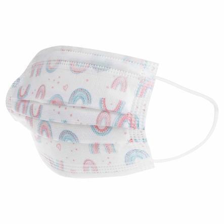 Nûby Einweg Alltagsmaske im 10er Pack, Mund-Nasen-Schutz für Kinder 4-12 Jahre, 3-lagig für Mädchen