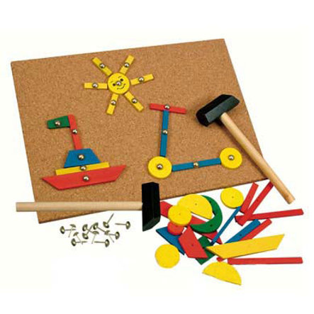 BINO 229 Piece Hammer and Tack Board