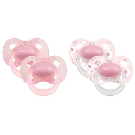 Medela Baby Dudlík Original od 18. měsíce DUO Sig nature 4 kusy v růžové barvě