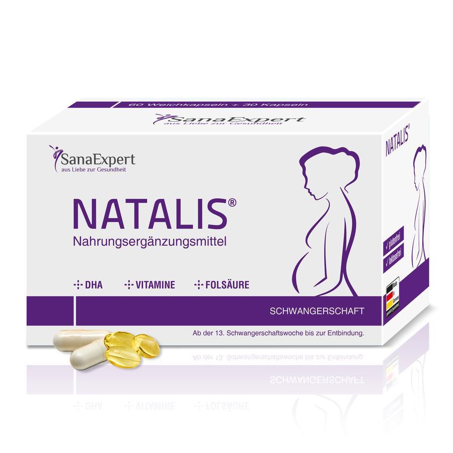 SanaExpert Nahrungsergänzungsmittel Natalis® für die Schwangerschaft 1 x Monatspackung á 90 Kapseln