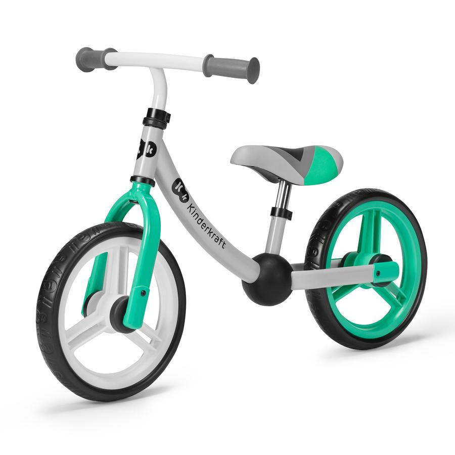 Kinderkraft - Balance Laufrad 2WAY NEXT, grün/ grau