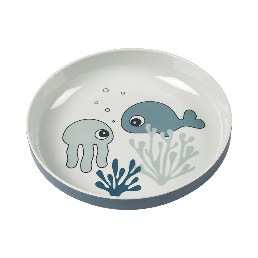 Done by Deer™ Teller Yummy mini Sea friends in blau