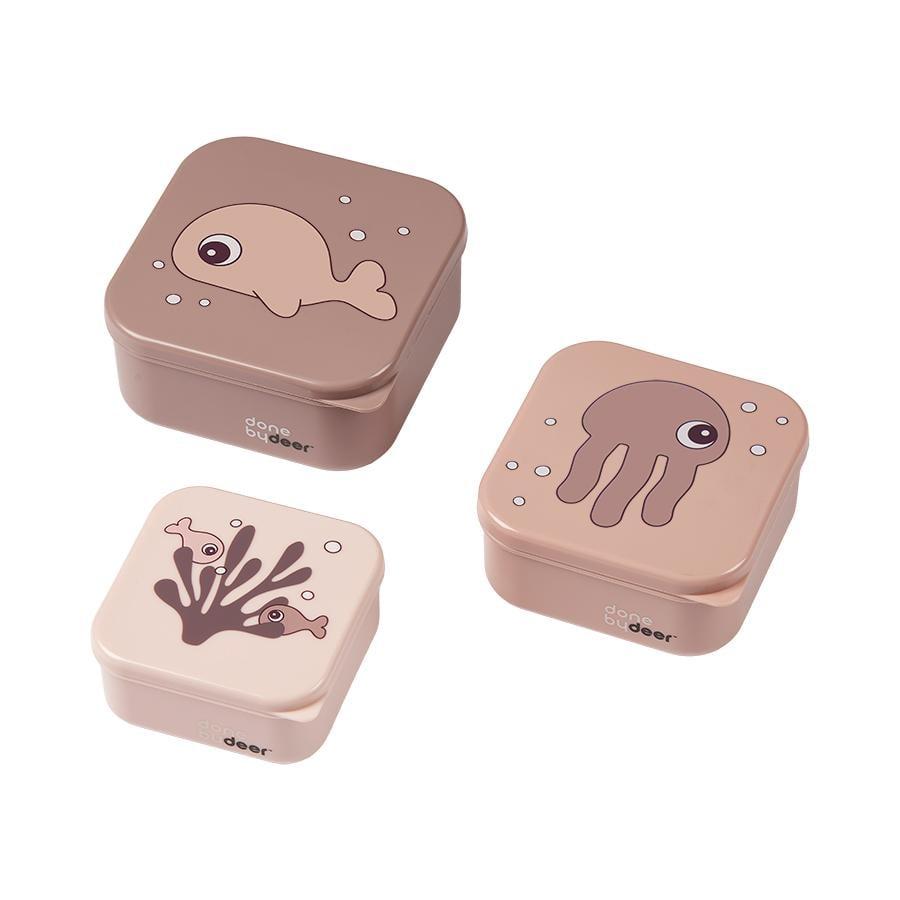 Done by Deer™ Snackbox-Set 3-er Pack Sea friends in rosa