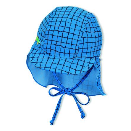 Sterntaler Peaked cap met nekbescherming blauw