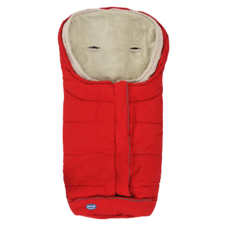 URRA Footmuff Vario 2in1 groß red/beige