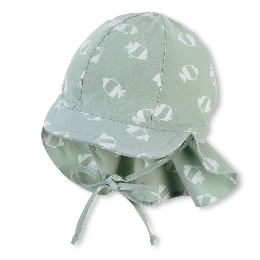Sterntaler Schirmmütze mit Nackenschutz mittelgrün