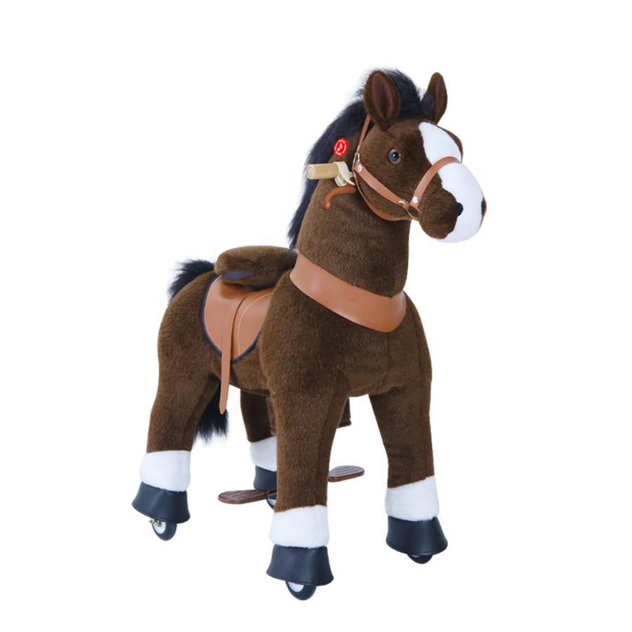 PonyCycle® Dark brown mit Bremse und Sound - groß