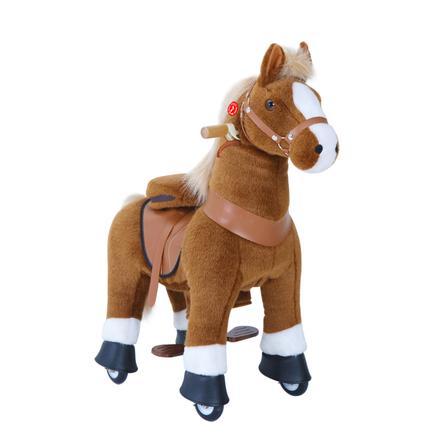 PonyCycle® Brown mit Bremse und Sound - groß
