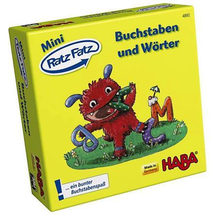 "HABA Mini Ratz Fatz ""Lettere e parole"" IN TEDESCO"