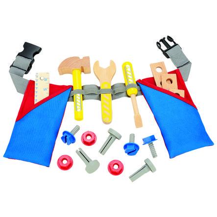 Bino Ceinture à outils enfant bois, 17 pièces
