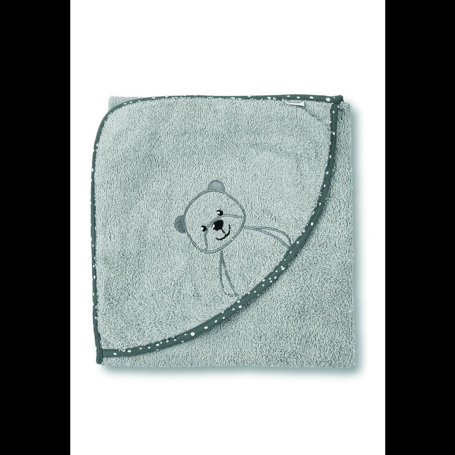 Sterntaler Kapuzenbadetuch Baylee grey 100 x 100 cm