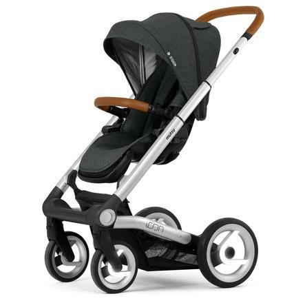 mutsy Kinderwagen Icon Rahmen Silver inklusive Sitz und Verdeck Vision  Urban Grey