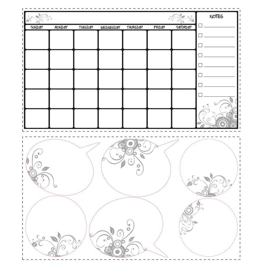 RoomMates® Wandsticker Wochenkalender