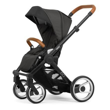 mutsy Kinderwagen EVO Rahmen Black Cognac inklusive Sitz Urban Nomad Stone Grey