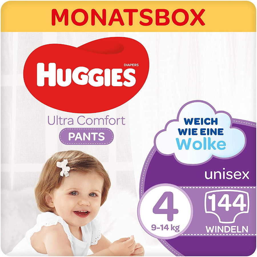 Huggies Schwimmwindeln Comfort Pants-Windel, Größe 4 144 Windelhosen