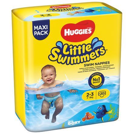 HUGGIES Plenky na plavání Little Swimmers velikost 2-3 5 x 20 kusů