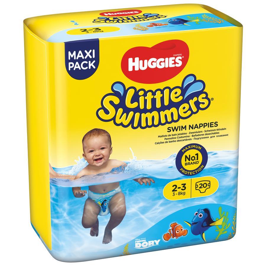 HUGGIES Couches-culottes de bain bébé jetables Little Swimmers T.2-3 5x20 pièces